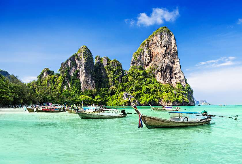 Longtailed boats in Thailand