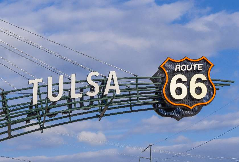 Famous Route 66 Gate in Tulsa, Oklahoma