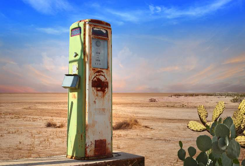 Old Gas Pump in Desert USA