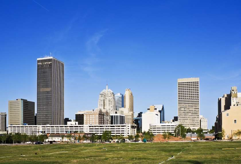 Skyline of Oklahoma City Oklahoma