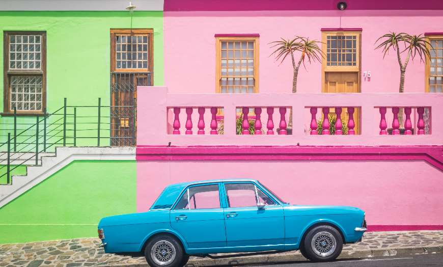 Bo Kaap's colourful streets in Cape Town