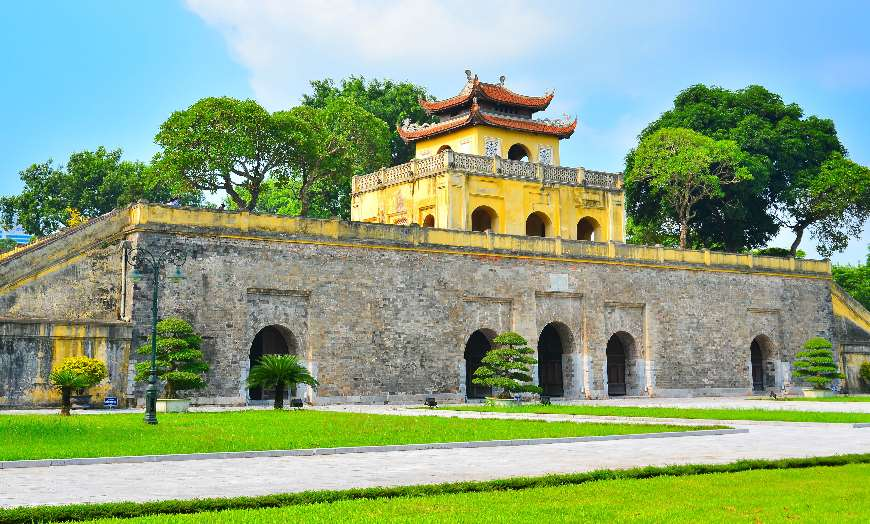 View of the Citadel of Hanoi in Vietnam