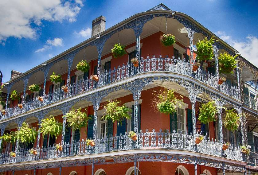 Old New Orleans Building with Balconies