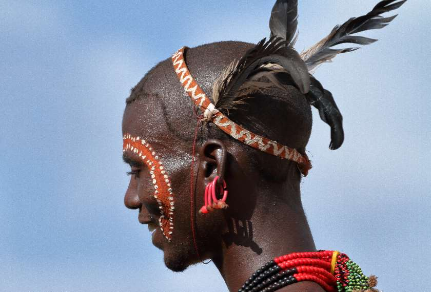 Man of the Hamar Tribe in the Omo Valley, Ethiopia