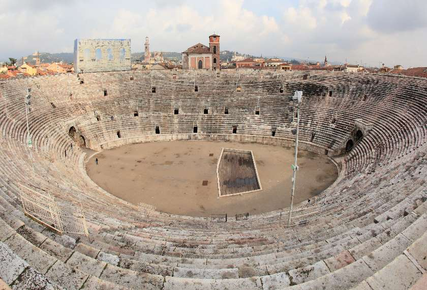 View of ancient Arena di Verona