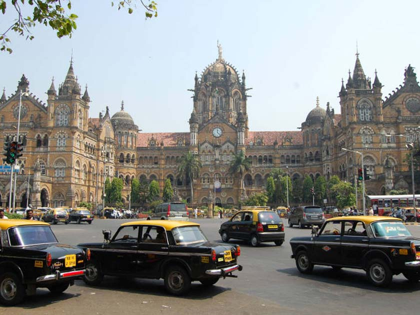 Frontage of the Chhatrapati Shivaji Terminus railway station in Mumbai