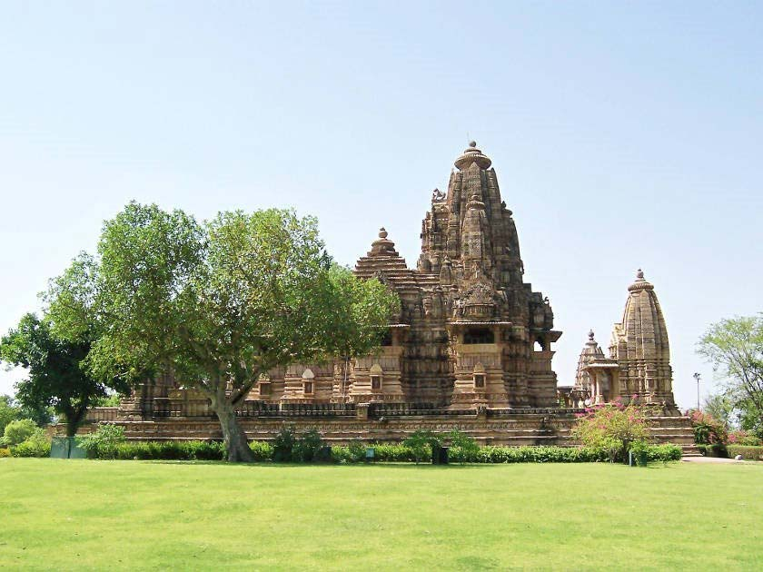 View of the ancient temples of Khajuraho