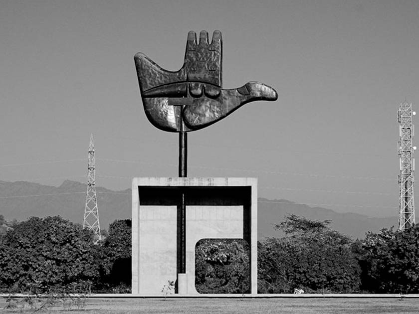 Le Corbusier's Open Hand Monument in Chandigarh, India