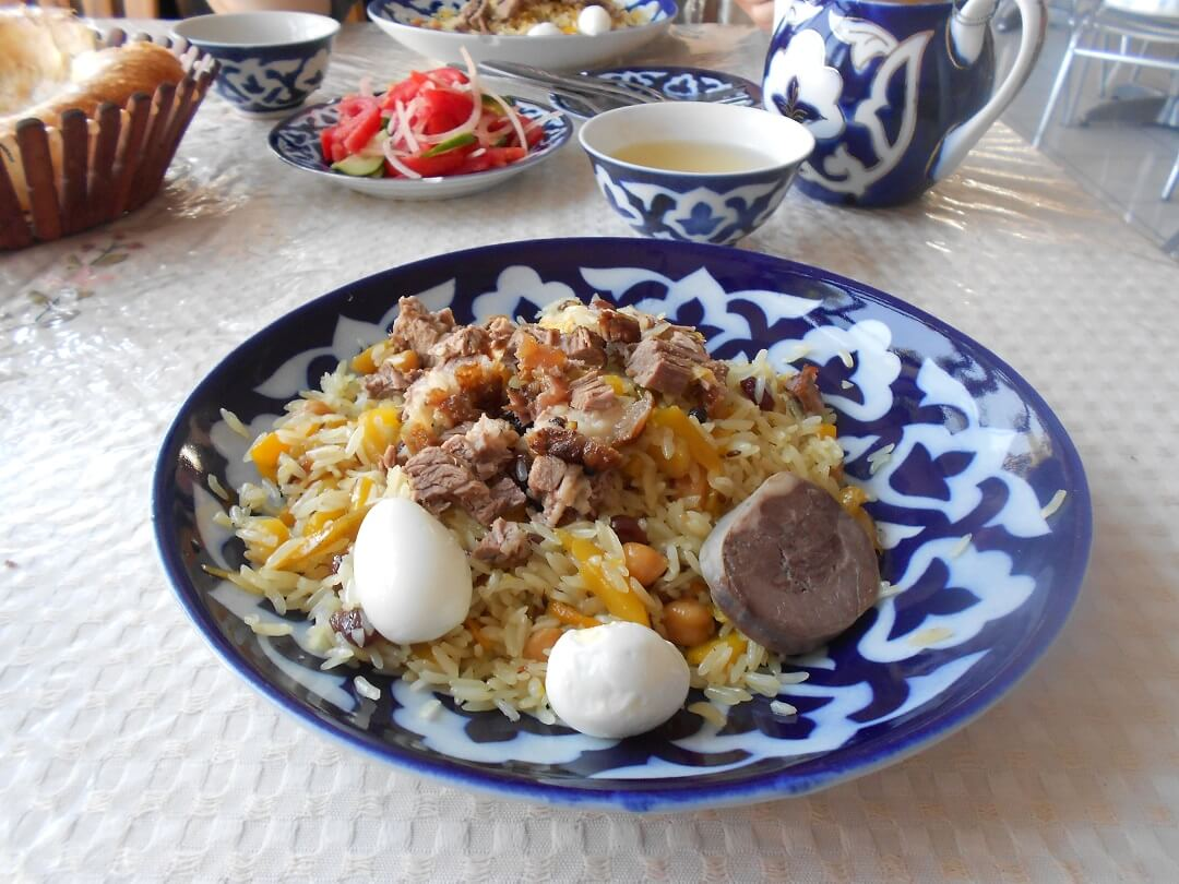 Plov, a rice based dish that is very popular throughout Uzbekistan