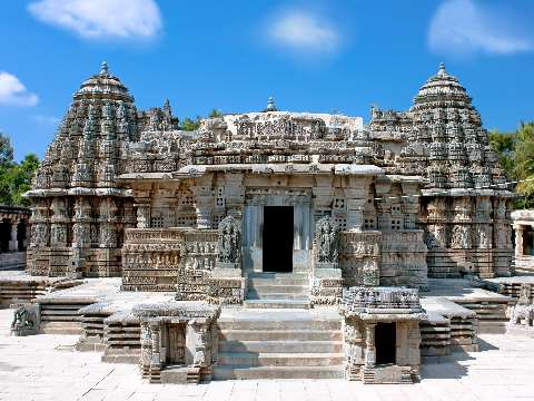 Ancient temple in Somnathpur close to Mysore in Karnataka, India