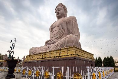 Large statue of the Buddha at Bodh Gaya in India