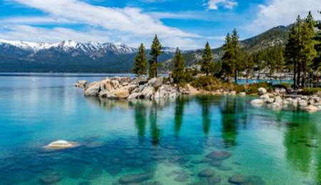 Lake Tahoe in the Sierra Nevada Mountains, California