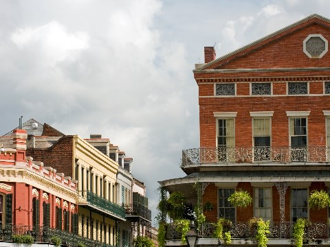 Old French Quarter homes in New Orleans