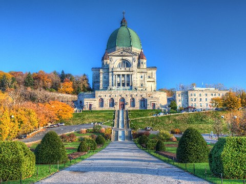 Grand green dome of the St Joseph Oratory, Montreal