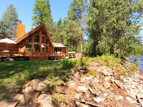 Wooden exterior of the Triple Creek Ranch in Montana