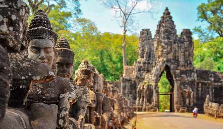 Ancient temples and states at Angor in Siem Reap, Cambodia